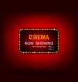 movie timenow showing banner sign theater sign or vector image