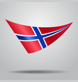 norwegian flag background vector image vector image
