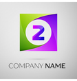 Number two logo symbol in the colorful square on vector image vector image