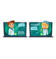online doctor telemedicine cartoon vector image