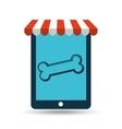 online pet shop and bone food vector image vector image