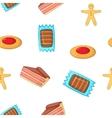 Patisserie pattern cartoon style vector image