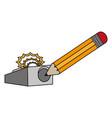pencil and eraser design vector image