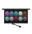 realistic detailed color shadows palette cosmetic vector image