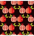 seamless pattern of pomegranates vector image vector image