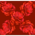 Seamless red roses pattern vector image vector image