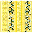 seamless striped background with yellow flowers vector image vector image