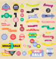 set discount banners representing labels vector image