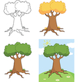 Set of cartoon trees vector image vector image