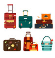 set travel bags isolated on white background vector image vector image