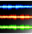 Special effects multicolored equalizer vector image vector image