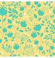 Spring Green Flowers Yellow blue Seamless Pattern vector image vector image