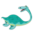 swimming dinosaur vector image vector image