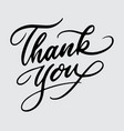 thank you handwriting calligraphy vector image vector image