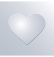 Valentines Day Paper Heart on White Background vector image vector image