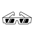 vintage movie 3d eye glasses template vector image vector image