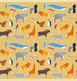 wild animal seamless pattern wildlife cartoon icon vector image vector image