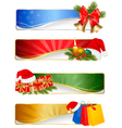 winter christmas banners vector image vector image