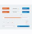 design ui kit for webdesign vector image