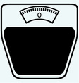 Icon scales vector image