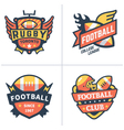 Football and rugby emblems vector image