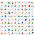 100 college icons set isometric 3d style vector image vector image