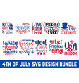 4th july calligraphy graphic design typography vector image vector image