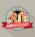 80th Years Anniversary Celebration Design vector image vector image