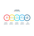 abstract elements of graph diagram with 5 steps vector image vector image