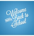 back to school vintage lettering background vector image vector image