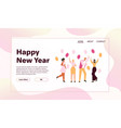 banner happy new year concept vector image