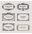 Beautiful blank frames for business cards vector image vector image