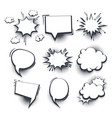 Big set hand drawn effects comic speech bubbles