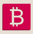 Bitcoin sign grayscale version of popart vector image