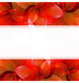Borders Of Red Tulips vector image vector image