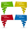 bubble colored origami speech vector image