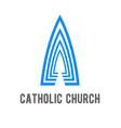catholic church logo design template vector image