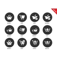 Checkout icons on white background vector image vector image