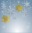 christmas background with white and golden vector image vector image