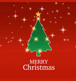christmas card with red background vector image vector image