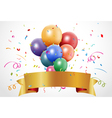 Colorful birthday celebration with balloon and rib vector image vector image