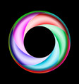 colorful spiral ring with metal gloss on black vector image vector image