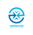 communiction business logo design abstract arrows vector image vector image
