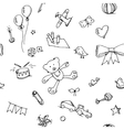 cute doodle pattern vector image