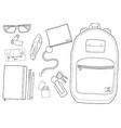 Every day carry man items vector image vector image
