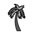 flat palm cartoon vector image vector image