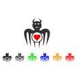 gambling happy devil icon vector image vector image