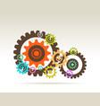 gears teamwork vector image vector image