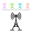grey antenna icon isolated on white background vector image vector image