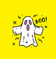 halloween ghost boo icon vector image vector image